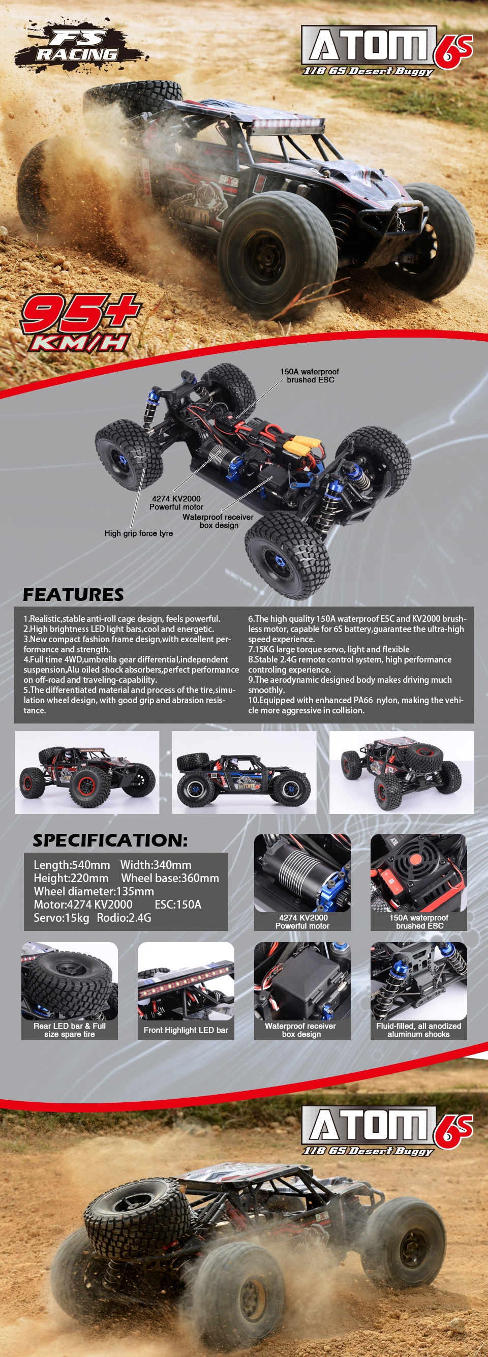 Atom Car Features