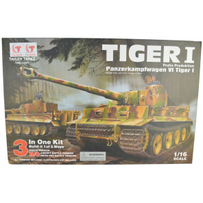 Self Assembly Taigen Tiger 1 RC Tank - 360 Turret - Kit Version