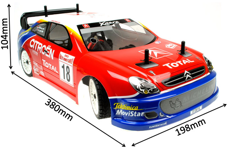 GS Racing Vision EvoE Citroen RTR Brushless RC Car
