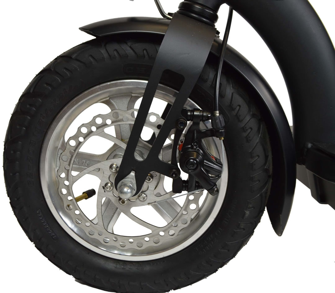 Vented disc brake and 12 inch tyre