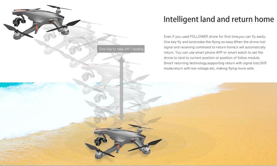Ceewa RC Drone Auto Takeoff Landing